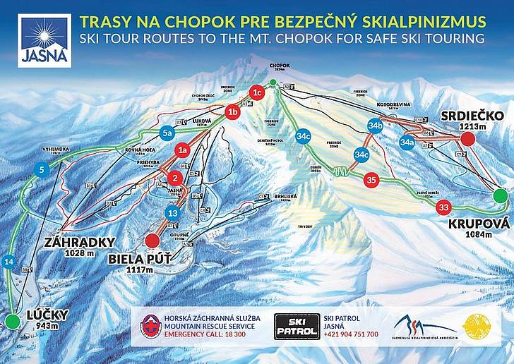 [Translate to Hungary:] Skialpinizmus trasy